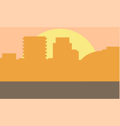 evening cityscape sunset vector image