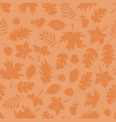 fall leaves seamless pattern subtle orange vector image