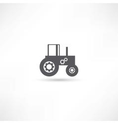 Farming tractor vector