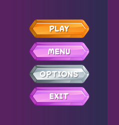 game user interface in cartoon style vector image