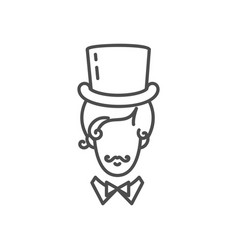 gentleman icon elegant man in a tall hat vector image
