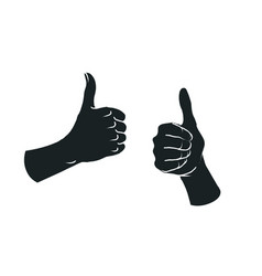 gesture like sign two female hands with thumbs vector image
