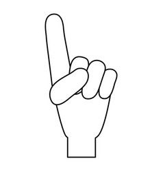 Hand with index finger up icon image vector