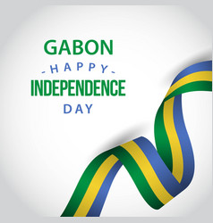 Happy gabon independence day template design vector