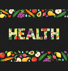 health word poster vector image
