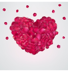 Heart of red rose petals EPS 10 vector image