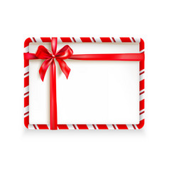 holiday stripe frame-05 vector image