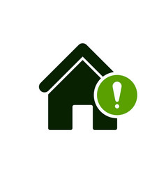 house icon with exclamation mark vector image