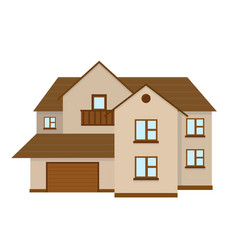 House to create a streetscape flat vector