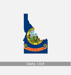 idaho usa map flag vector image