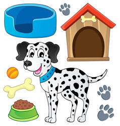 Image with dog theme 7 vector
