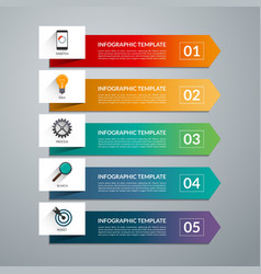 Infographic arrow template 5 options vector image
