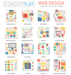 infographics mini concept web design icons vector image