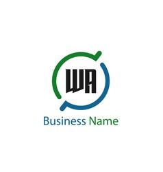 Initial letter wa logo template design vector