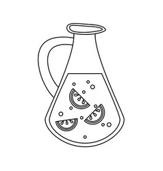 lemonade juice jar vector image