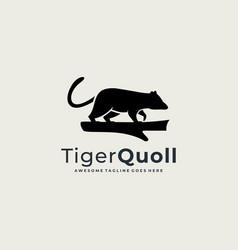 Logo carnivorous marsupial silhouette style vector