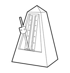 Metronome icon outline style vector