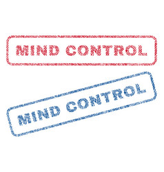 mind control textile stamps vector image