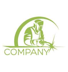 Modern welder logo vector
