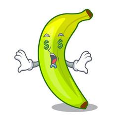 Money eye fruit green bananas isolated on mascot vector