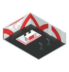 News room isometric interior vector