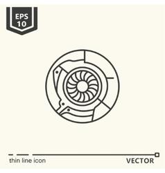 One icon Artificial eye vector image