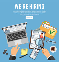 online employment and hiring concept vector image