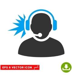 Operator headphones signal eps icon vector