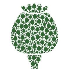 Opium poppy icon collage vector