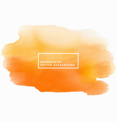 Orange watercolor texture background watercolor vector
