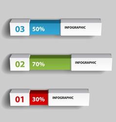 Percent infographic chart design template vector