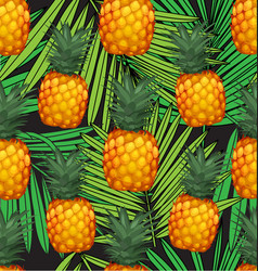 pineapples seamless patter6 vector image