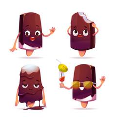 popsicle ice cream character funny eskimo pie vector image