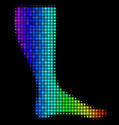 Rainbow pixel leg icon vector