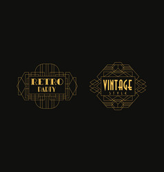 retro party vintage style card templates set vector image