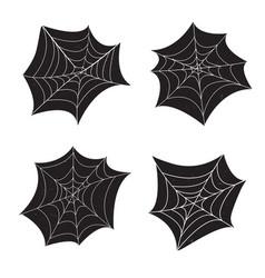 Set 4 spider web vector