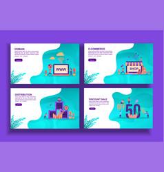 Set modern flat design templates for business vector