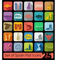 Set of Spain icons vector image