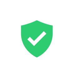 Shield with check mark icon vector
