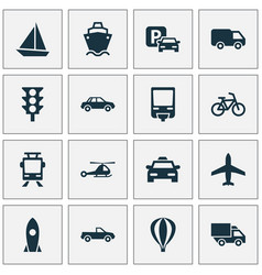 Shipment icons set collection of road sign vector