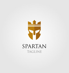 spartan king gladiator crown logo vector image