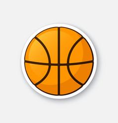 Sticker basketball ball vector
