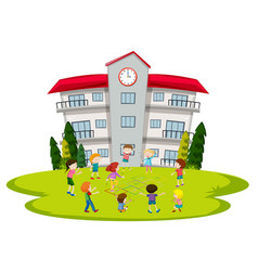students playing at school vector image