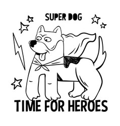 Superhero super cute dog in mas vector