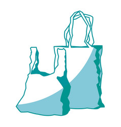 Two plastic shopping bag market image vector