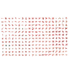 very big collection of flags of the lebanon vector image