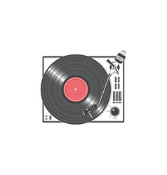 Vinyl player with a disk detailed elements vector