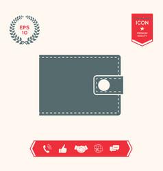 wallet icon symbol vector image
