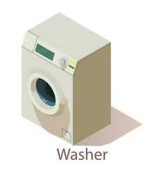 Washer icon isometric style vector