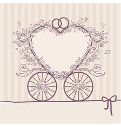 Wedding invitation coach Design template vector image